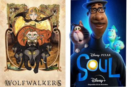 Foto de 'Espítiru de lobo' y 'Soul', a propósito de en dónde ver las películas nominadas a los Óscar 2021.