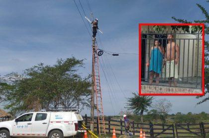 Hombre en toalla amenazó a trabajador de empresa de energía, en La Guajira