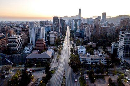 Calles vacías en Santiago de Chile.