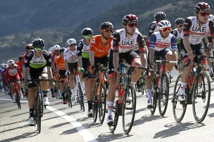 Equipo Kern Pharma se retira de la Vuelta a Cataluña por casos de coronavirus. Imagen de referencia de la competencia.