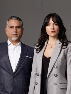 Sebastián Martínez y Juliette Pardau, en 'Pa' quererte', y Marlon Moreno y Carolina Gómez, en 'La venganza de Analía', a propósito de que esas dos novelas están entre nominados de Premios India Catalina 2021.