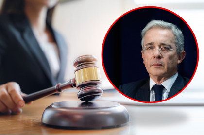 Imágenes de jueza y Álvaro Uribe ilustran nota sobre amenazas que denuncia la jueza del caso del expresidente