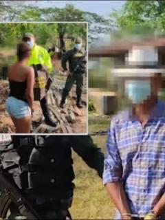 Momento en que el Gaula de la Policía rescata a la menor, de 14 años, secuestrada hace 4 por el padrastro