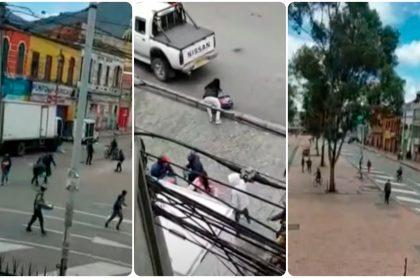 Imágenes de los desmanes en Bogotá.