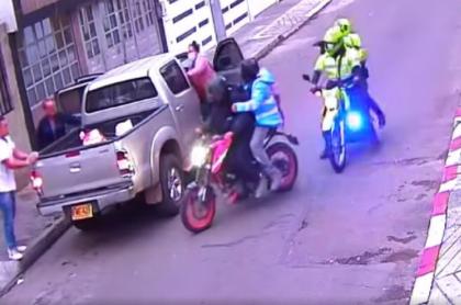 Robo a una familia en sur de Bogotá en el que ladrones se escaparon frente a policías