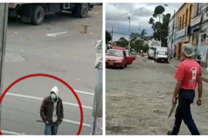 Imágenes de protagonistas de desmanes en Bogotá
