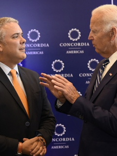 Iván Duque y Joe Biden