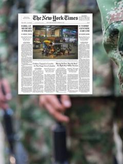 Colombia es portada del New York Times por bombardeos a disidencias de las Farc.