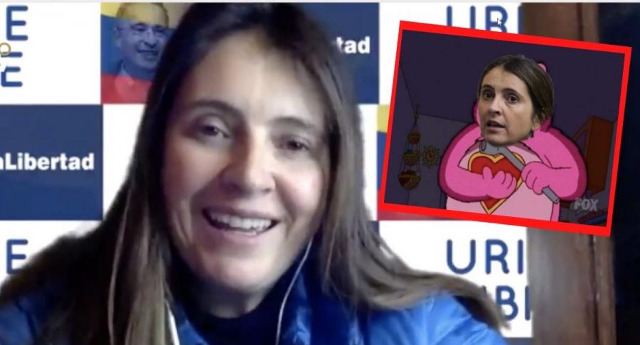 Paloma Valencia, a propósito de los memes del mensaje de su hija sobre maltrato