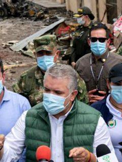 ONU pide al Gobierno atender alertas tempranas en temas de seguridad. Imagen de Iván Duque en Corinto, lugar del carro bomba.