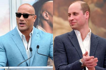 Dwayne 'La Roca' Johnson, y el príncipe William, a propósito del calvo más sexy del mundo