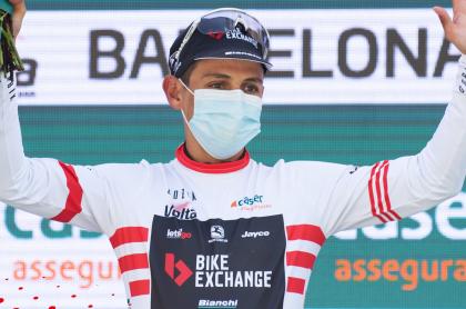 Esteban Chaves, campeón de montaña y por puntos en Vuelta a Cataluña. Imagen del ciclista colombiano.