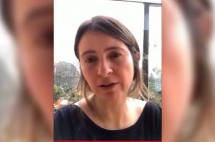 Imagen de Paloma Valencia, quien dice que es indecente que la ataquen usando a su hija Amapola