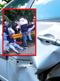 Accidente de tránsito en el Valle del Cauca de conductor borracho.