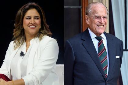 Foto de María Juliana Ruiz y el príncipe Felipe, a propósito de cuánto ganan