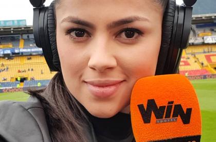 """""""Que vaya su mamá"""": Sheyla García, de Win Sports, a contradictor. Imagen de la presentadora."""