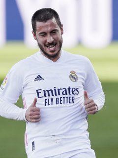 Eden Hazard, quien asistió a entrenamiento del Real Madrid en su Lamborghini de casi medio millón de euros
