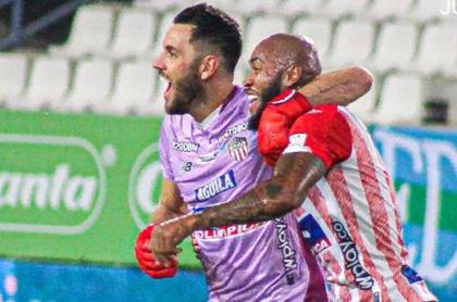 Gol de Sebastián Viera en triunfo de Junior sobre Jaguares, en Liga Betplay.
