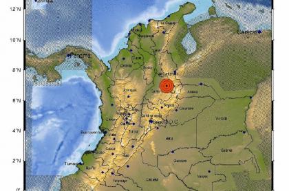 El Servicio Geológico Colombiano notificó de un temblor de 4,3 grados este martes en Los Santos, Santander.