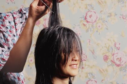 Foto de corte de pelo, a proósito de las fechas de abril para cortarlo