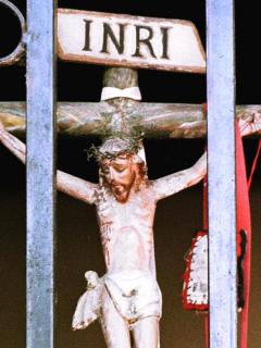 """Crucifixión de Jesús """"parece llevada por Fiscalía de Barbosa"""": Héctor Riveros. Imagen de representación de la muerte de Jesús."""