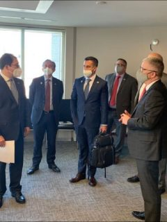 Encuentro del fiscal Francisco Barbosa con representantes de agencias de seguridad en Estados Unidos
