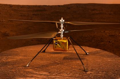 Foto del Ingenuity ilustra nota sobre helicóptero que volará Marte