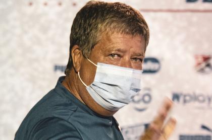 'Bolillo' Gómez, contagiado de coronavirus; es técnico de Independiente Medellín. Imagen de referencia del entrenador.