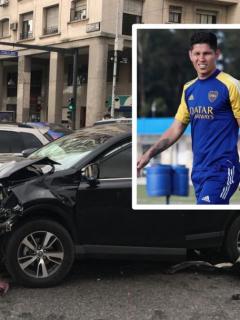 Video: Jorman Campuzano se estrelló en su camioneta en Buenos Aires