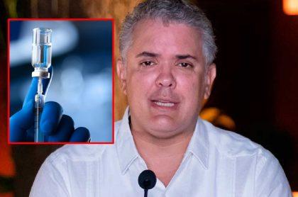 Iván Duque, presidente de Colombia, recientemente habló de producción de vacunas.