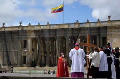 Bogotá durante la celebración del Viernes Santo.
