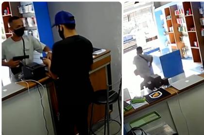Imágenes de un intento de robo a un local de celulares en Brasil