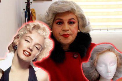 Foto montaje de 'Barbarita', el personaje de 'Sábados felices' interpretado por César Corredor, y Marilyn Monroe