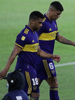 Molestia de Fabra y Villa en el partido de Boca Juniors hoy.