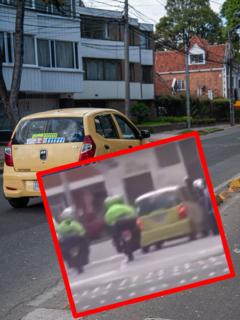 Imágenes que ilustran una persecución en Bogotá.
