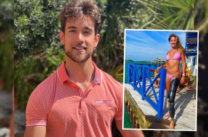 Fotos de Instagram de Lenard Vanderaa y Daniella Álvarez (recuadro), a propósito de la negativa de residencia y visa en Colombia para con el actor español.