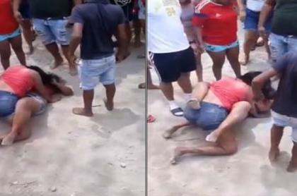 Imágenes de la pelea de dos mujeres cuyo video fue difundido en Santa Marta