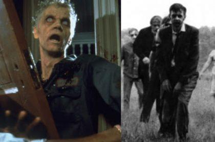 Fotomontaje de 'La noche de los muertos vivientes', a propósito de qué es la Trioxina 2-4-5