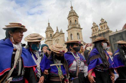 Paro nacional 28 de abril: a sindicatos se unen líderes e indígenas del Cauca. Imagen del paro del 21 de noviembre.
