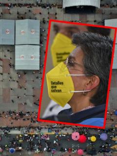 Imágenes de Claudia López y de Bogotá, que tendrán
