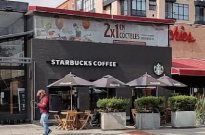 Starbucks de la calle 116 con 17, atracado en Bogotá