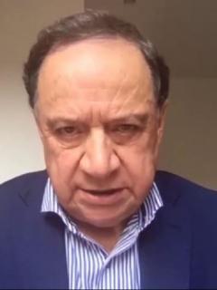 Senador Eduardo Enríquez Maya, quien está en UCI por COVID-19