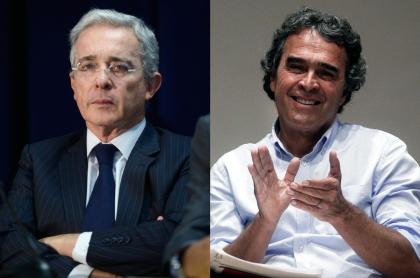 Fotos de Álvaro Uribe y Sergio Fajardo, a propósito de que el expresidente es primo de la esposa del exgobernador