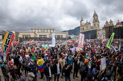 Paro nacional: convocan marcha para el viernes 9 de abril. Imagen del paro nacional del 21 de octubre 2020.