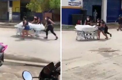 Familia que se llevó del hospital el cadáver de un hombre que murió por COVID-19 en Fundación (Magdalena)