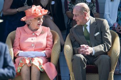 La reina Isabel II y el príncipe Felipe en el Royal Windsor Cup 2018 ilustra nota sobre foto real con la que la monarca despidió a su esposo, que murió el 9 de abril del 2021.