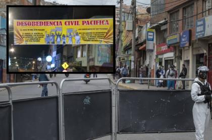 Comerciantes se declaran en desobediencia civil por cierres en sur de Bogotá