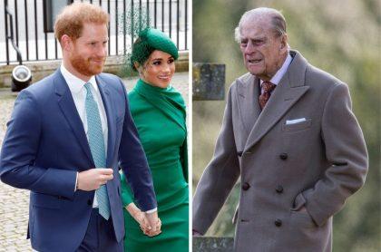 Príncipe Harry, Meghan  Markle y príncipe Felipe