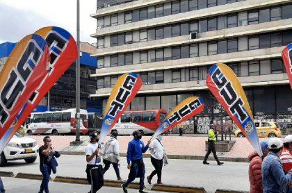 Imagen de las movilizaciones de este viernes en Bogotá