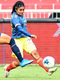 Selección Colombia Femenina vence a Ecuador con gol de Catalina Usme. Imagen del partido.